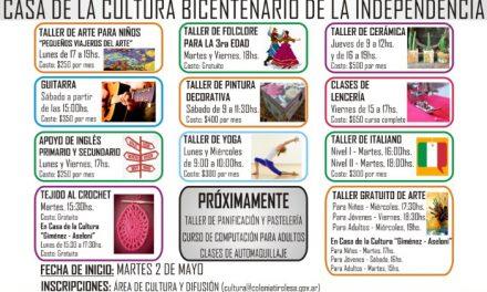 Comienzo de Cursos y Talleres Culturales 2017