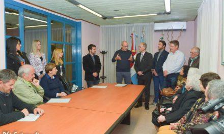 Visita de autoridades Di Trento a la localidad