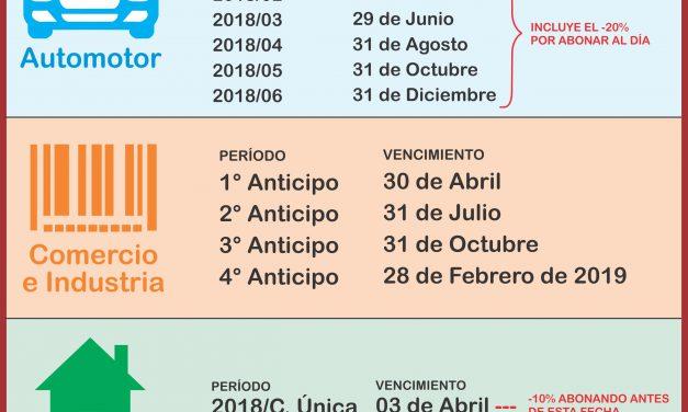 CALENDARIO TRIBUTARIO 2018