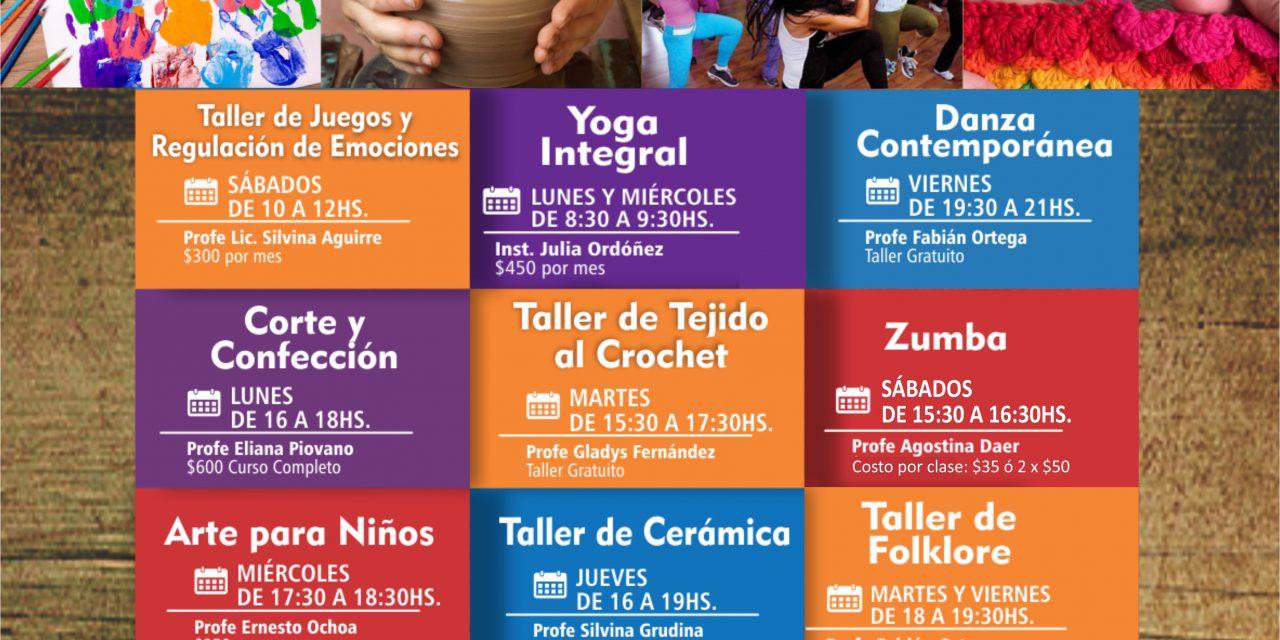 CURSOS Y TALLERES CONFIRMADOS