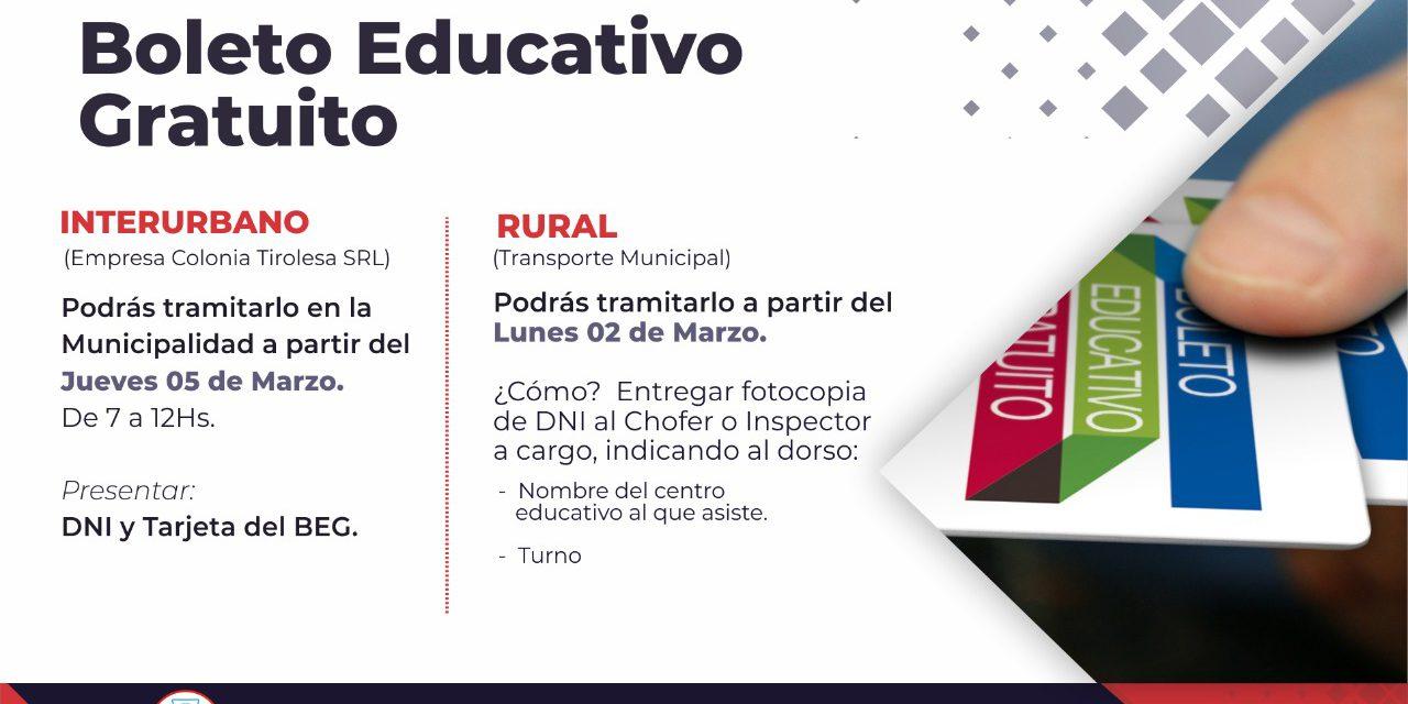 BOLETO EDUCATIVO GRATUITO 2020